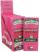 Organic Dark Chocolate Bar Infused with Red Raspberry Rooibos Tea