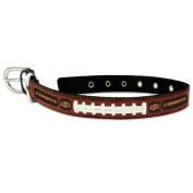 NCAA Oklahoma State Cowboys Classic Leather Football Collar, Medium