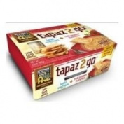 Mediterranean Snacks Tapaz 2 Go Hummus and Lentil Crackers Red Pepper -- 110ml