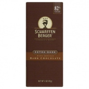 Scharffen Berger Dark Chocolate Bar 82% Cacao Extra Dark -- 90ml