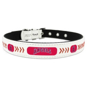MLB Los Angeles Angels Classic Leather Baseball Dog Collar
