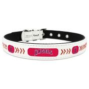MLB Los Angeles Angels Classic Leather Baseball Dog Collar