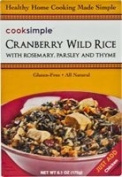 Cooksimple Cranberry Wild Rice Gluten Free -- 180ml