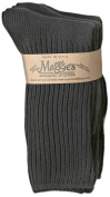 Maggie's Functional Organics Socks Black Crew Tri-Packs Size 9-11