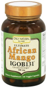 Only Natural Anti-Oxidant Veggie Capsules, African Mango, 60 Count