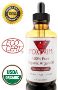 "★LIMITED SALE!★ BEST Argan Oil for Hair, Face and Skin - 100% Pure ORGANIC Argan Oil Cold Pressed Virgin Argan Oil ★ Foxbrim | Certified Organic and EcoCert Argania Spinosa | Imported directly from Morocco | Acclaimed as ""Nature's Liquid Gold"" 