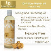 Beauty Aura 100 % Pure Walnut Oil Is Pressed From Best Quality Walnuts, 470ml