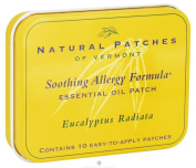 Natural Patches of Vermont - Soothing Allergy Formula Essential Oil Body Patches Eucalyptus Radiata - 10 Patch