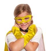 Yellow Superhero Eye Mask and Powerbands - Kids