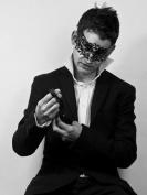 Black Lion/Lionesse Laser Cut Venetian Masquerade Mask with Rhinestones Event Party Ball Mardi Gars