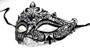 Crown Laser Cut Venetian Masquerade Mask with Rhinestones Event Party Ball Mardi Gars