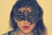 Dark Phoenix Laser Cut Venetian Masquerade Mask with Rhinestones Event Party Ball Mardi Gars