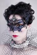 Elegant Majesti Lady Laser Cut Venetian Masquerade Mask with Rhinestones Event Party Ball Mardi Gars
