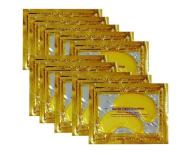 Hitece@ 10 pairs 24K Gold Powder Eye Mask Collagen Crystal Gel Eye Mask Girl Skin Care Masks