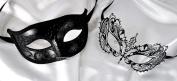 Lovers Collection Men Women Couple Black B22 Combo Cut Venetian Masquerade Mask Event Party Ball Mardi Gars