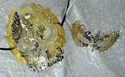 Lovers Collection Men Women Couple Gold G3 Combo Cut Venetian Masquerade Mask Event Party Ball Mardi Gars