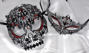 Lovers Collection Men Women Couple Red R9 Combo Cut Venetian Masquerade Mask Event Party Ball Mardi Gars