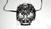 Men Devil Skull Laser Cut Venetian Masquerade Mask with Rhinestones Event Party Ball Mardi Gars