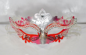 Redink xCrown Laser Cut Venetian Masquerade Mask with Rhinestones Event Party Ball Mardi Gars