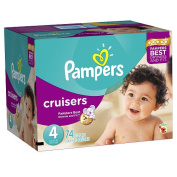 Pampers Cruisers Size 4 Nappies Super Pack - 74 Count