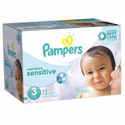 Pampers Swaddlers Size 3 Sensitive Nappies Super Pack - 72 Count