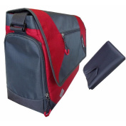COLUMBIA grey/RED MESSENGER nappy BAG