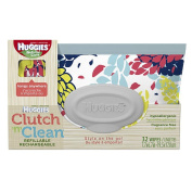 Huggies Natural Care Baby Wipes Clutch N' Clean Carrying Case 32-Count - Colour/Styles May Vary