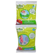 Sassy Sesame Street Potty Combo Pack - 6 Count Potty Topper & 12 Count Wipes