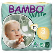 Bambo Nature Size 3 Midi Nappies 6-Pack - 33 Count