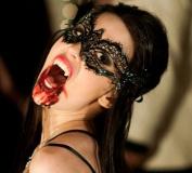 Vampire Daries Elana Laser Cut Venetian Masquerade Mask with Rhinestones Event Party Ball Mardi Gars