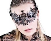Young Lady Mystic Laser Cut Venetian Masquerade Mask with Rhinestones Event Party Ball Mardi Gars