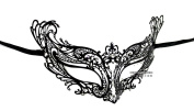 Young Queen Laser Cut Venetian Masquerade Mask with Rhinestones Event Party Ball Mardi Gars