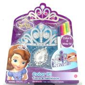 Disney Sofia the First Colour it Tiara & Necklace