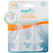 Evenflo Feeding Proflow Silicone Medium Flow Nipple - 4 Pack