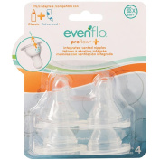 Evenflo Feeding Proflow Silicone X-Cut Fast Flow Nipple - 4 Pack