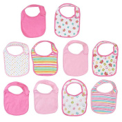 Koala Baby 10-Pack Girl Bibs - Hearts/Flowers
