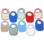 Koala Baby 10-Pack Boy Bibs - Transportation