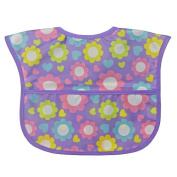 Bibsters Flower Easy Clean Bib - Girl