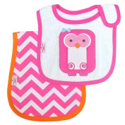 Happy Chic Baby By Jonathan Adler Bib and Burp Set-Owl