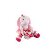 """Baby Aspen Girls """"Hannah Hop-in-Socks"""" Plush Baby Bunny & Socks Gift Set- 0-6 Months"""