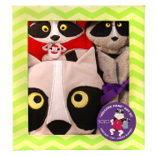 SOZO Boys 3 Piece Raccoon Welcome Home Gift Set with Raglan Bodysuit, 3D Raccoon Hat, and Security Blanket- 0-3 Months