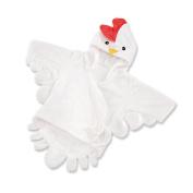 "Baby Aspen Neutral ""Barnyard Bathtime"" Chicken Hooded Spa Robe- 0-9 Months"