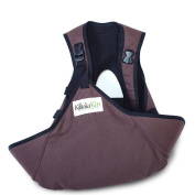 KoalaKin, Hands Free Nursing Pouch - Chocolate Brown - Vest Size Small/Pouch Size M/L