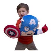 Super Hero Squad Captain America Puppet Pillow