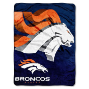 NFL 150cm  x 200cm  Micro Raschel Throw - Denver Broncos - by Northwest
