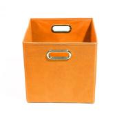 Modern Littles Bold Solid Orange Folding Storage Bin