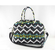 Ikat Printed Duffel Bag