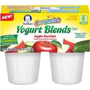 Gerber Graduates Fruit & Vegetable Yoghurt Blends Apple Zucchini 4-Pack