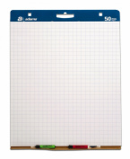 Adams Easel Pads, 2.5cm Grid Lines, 90cm x 70cm , White with Blue Lines, 2-Pack