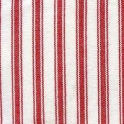 5 Yard Bolt Red 110cm Woven Striped Ticking